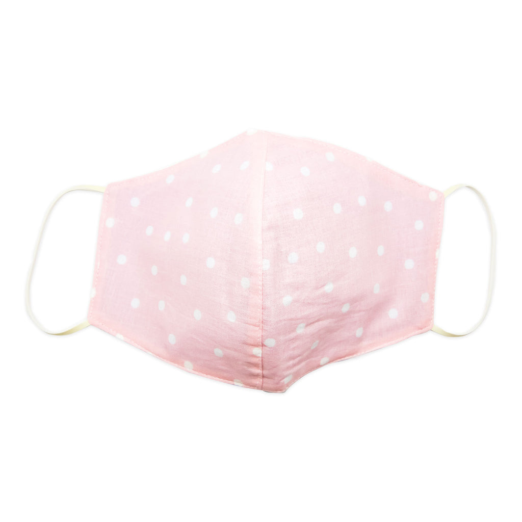 Mask-Mart Geometric Pattern Face Mask, 100% Cotton - Polka Pink