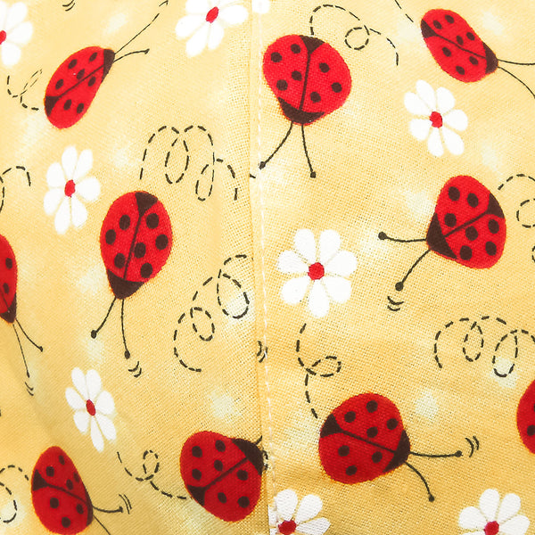 Mask-Mart Designer Pattern Face Mask, 100% Cotton - Ladybug