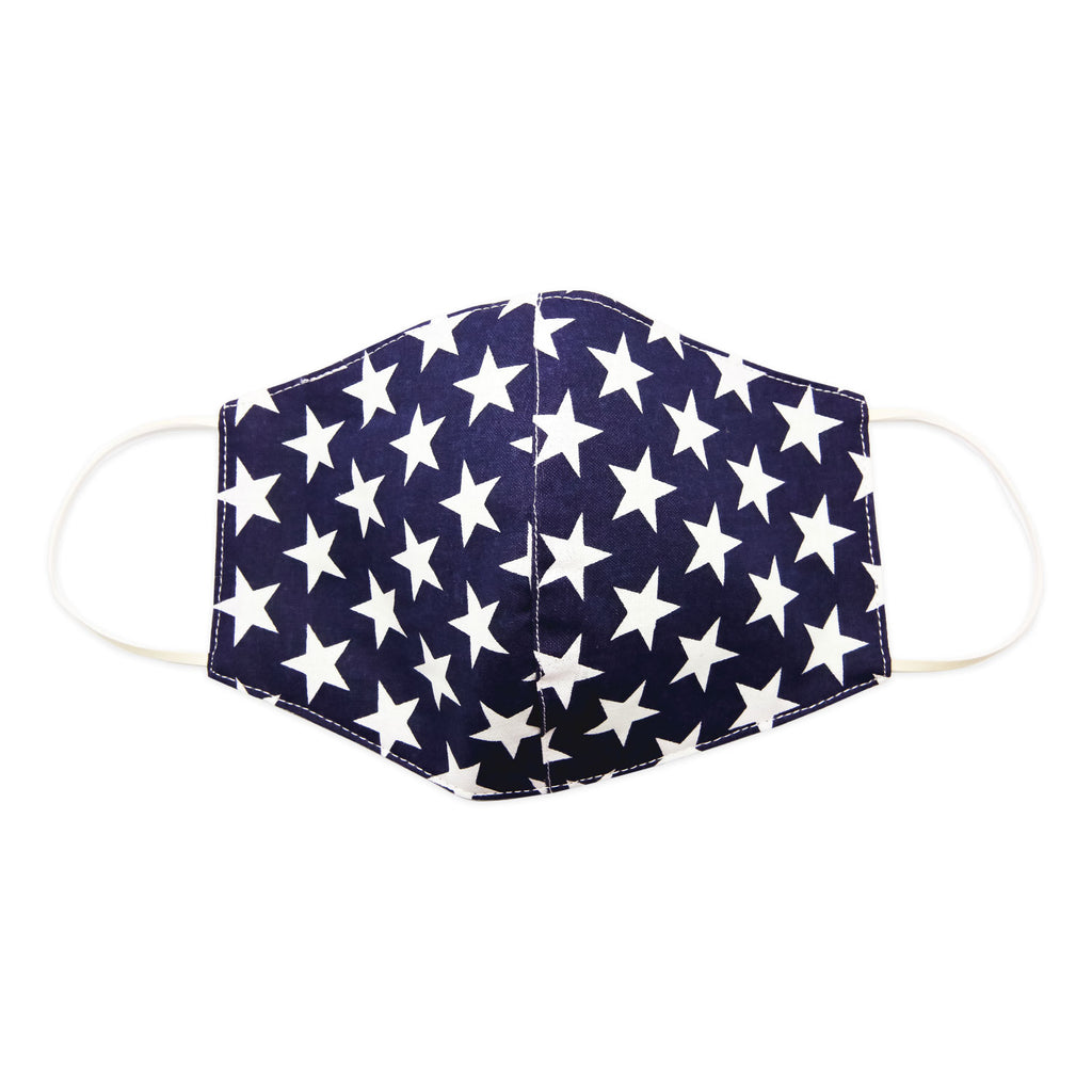 Mask-Mart Patriotic Collection Extra Large Face Mask, 100% Cotton - Stars