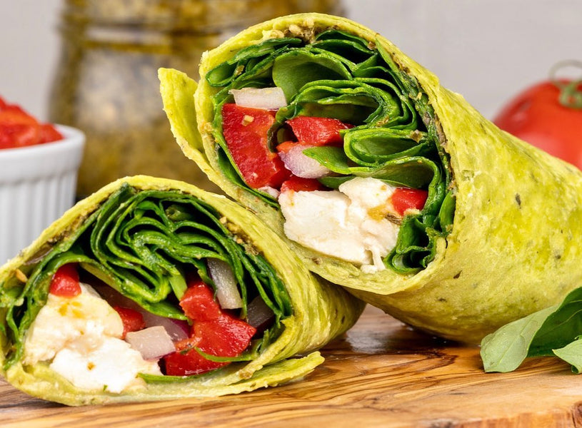 Savory Spinach Pesto Wrap 🌿