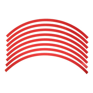 rim sticker 20x4 inch rim red