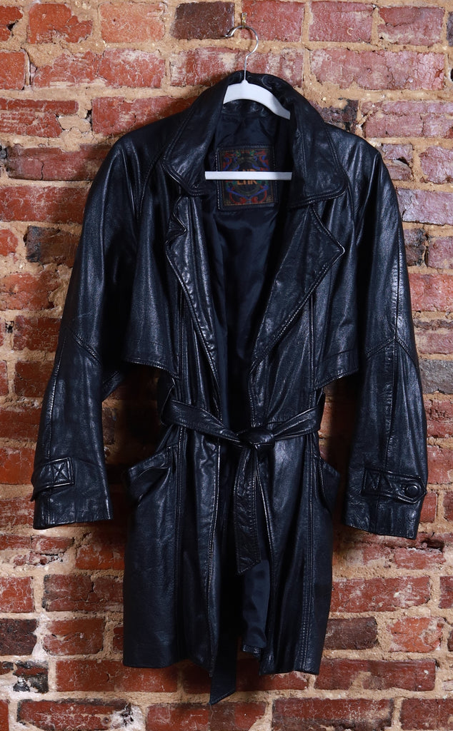 BLK Love Jones Leather JKT w/ Belt