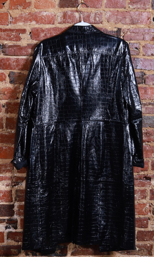 BLK Patent Leather Embossed Trench