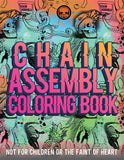 "Chain Assembly Coloring Book, 42 pages including cover. 8 1/2"" x 11"""