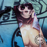 Skull Woman #2 Aluminum Bookmark