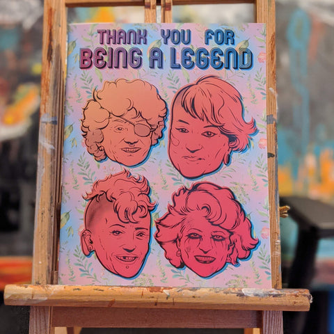 "Thank You for Being a Legend, a Golden Girls Coloring Book, 44 pages including cover. 8 1/2"" x 11"""