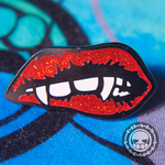 Vampire Lips Hard Enamel Pin