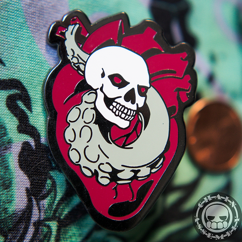 Tentacle Heart Hard Enamel Pin
