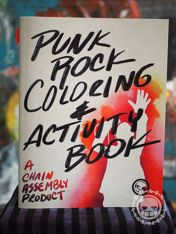 "Punk Rock Coloring Book, 40 pages including cover. 8 1/2"" x 11"""