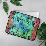 Two Toned Repeating Pattern Laptop Sleeve