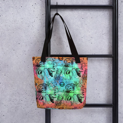 Illustration Pattern Two Tone Tote bag