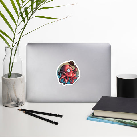 Dapper Octopus Waterproof Vinyl Stickers