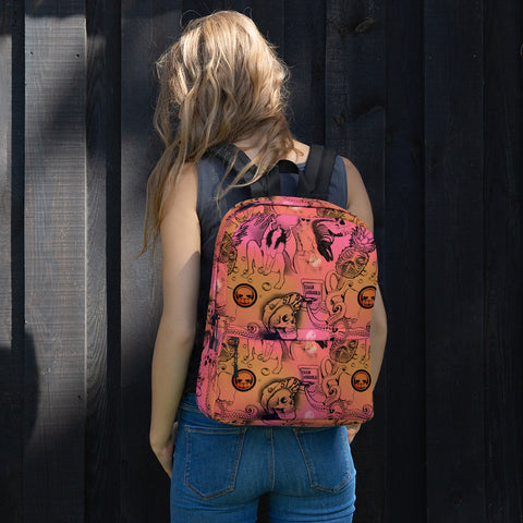 Illustration Pattern Backpack