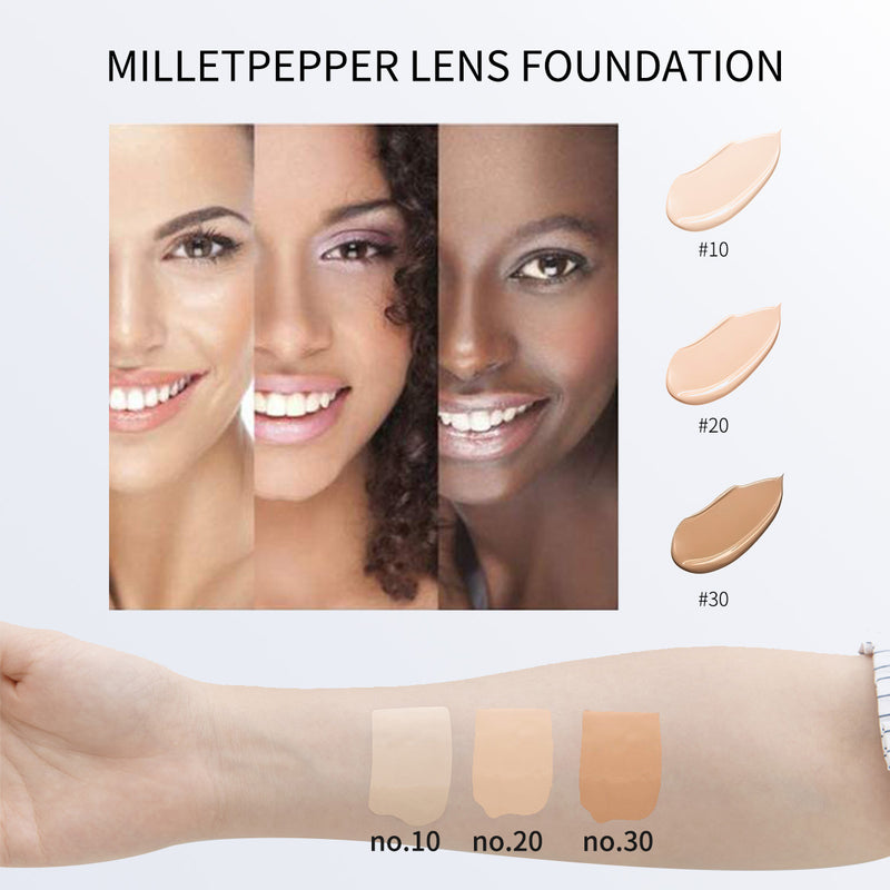 milletpepper LENS Foundation Hydrating Flawless Base Makeup 28ml