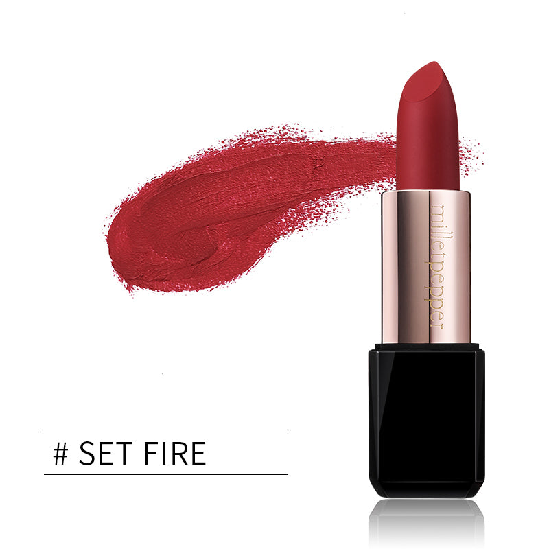 milletpepper SET FIRE Lipstick Matte Classic Red Color