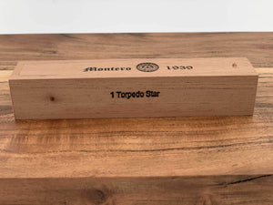 Montero 1939 - Torpedo Star (1) Cigar & Cedar Wood Case