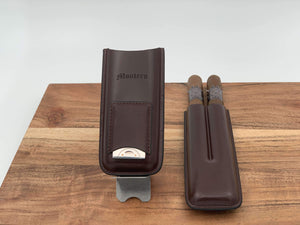 Montero 1939 - Two Cigars With Divine (Brown) Leather Cigar Case