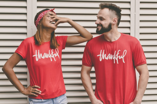 T-shirt with text Thankful