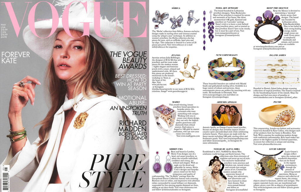Nuni Copenhagen and BRITISH VOGUE May issue