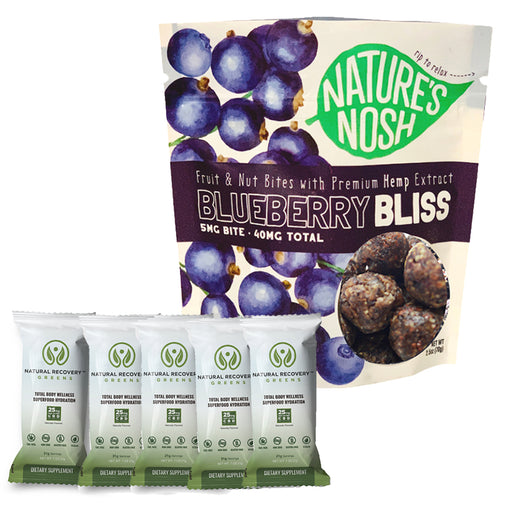 Natures Nosh Blueberry Bliss & Natural Recovery Greens Bundle