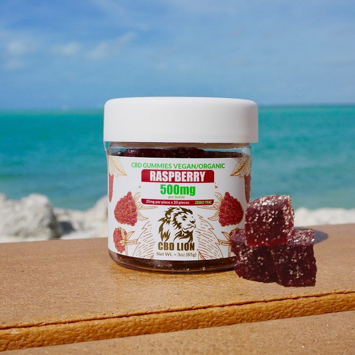 CBD Lion 500mg CBD Gummies Raspberry Beach