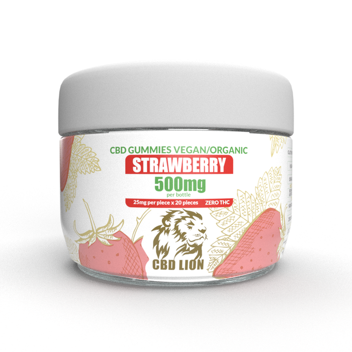 CBD Lion 500mg CBD Gummies Strawberry