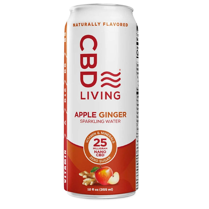 CBD Living 25mg Nano CBD Apple Ginger Sparkling Water