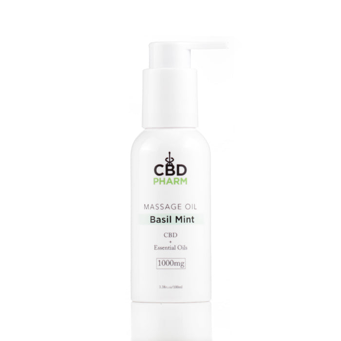 CBD Pharm 1000mg Massage Oil Basil Mint