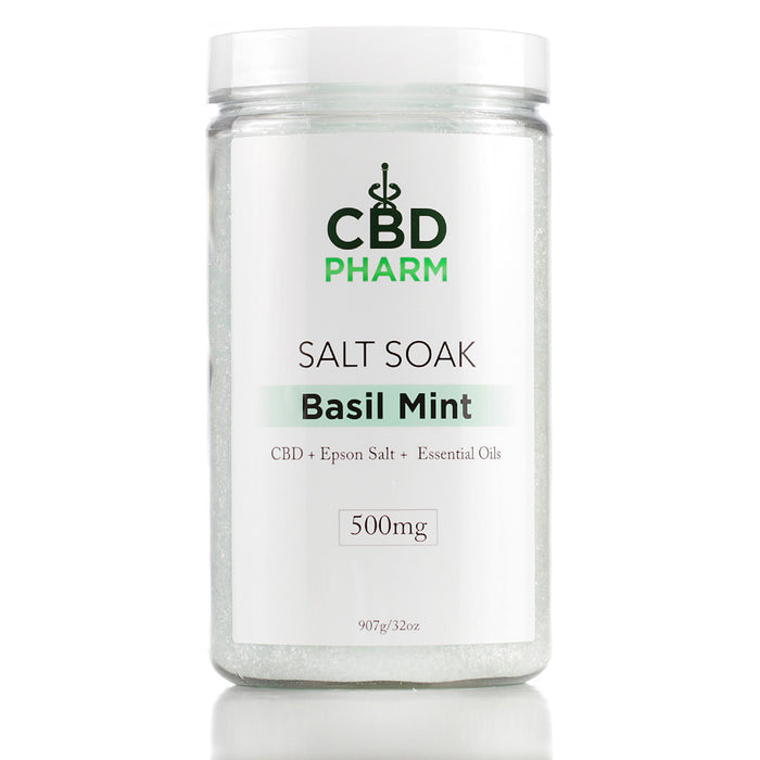 CBD Pharm 500mg 32oz Salt Soak Basil Mint