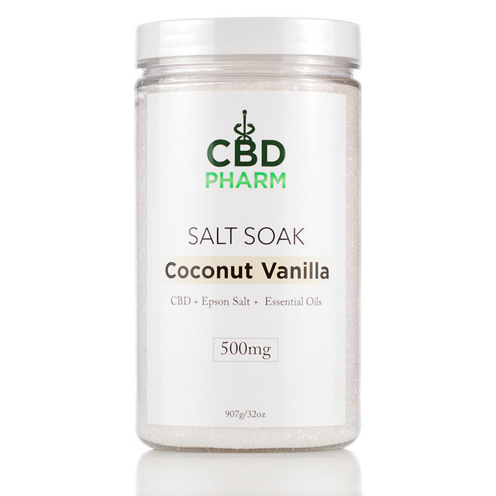 CBD Pharm 500mg 32oz Salt Soak Coconut Vanilla