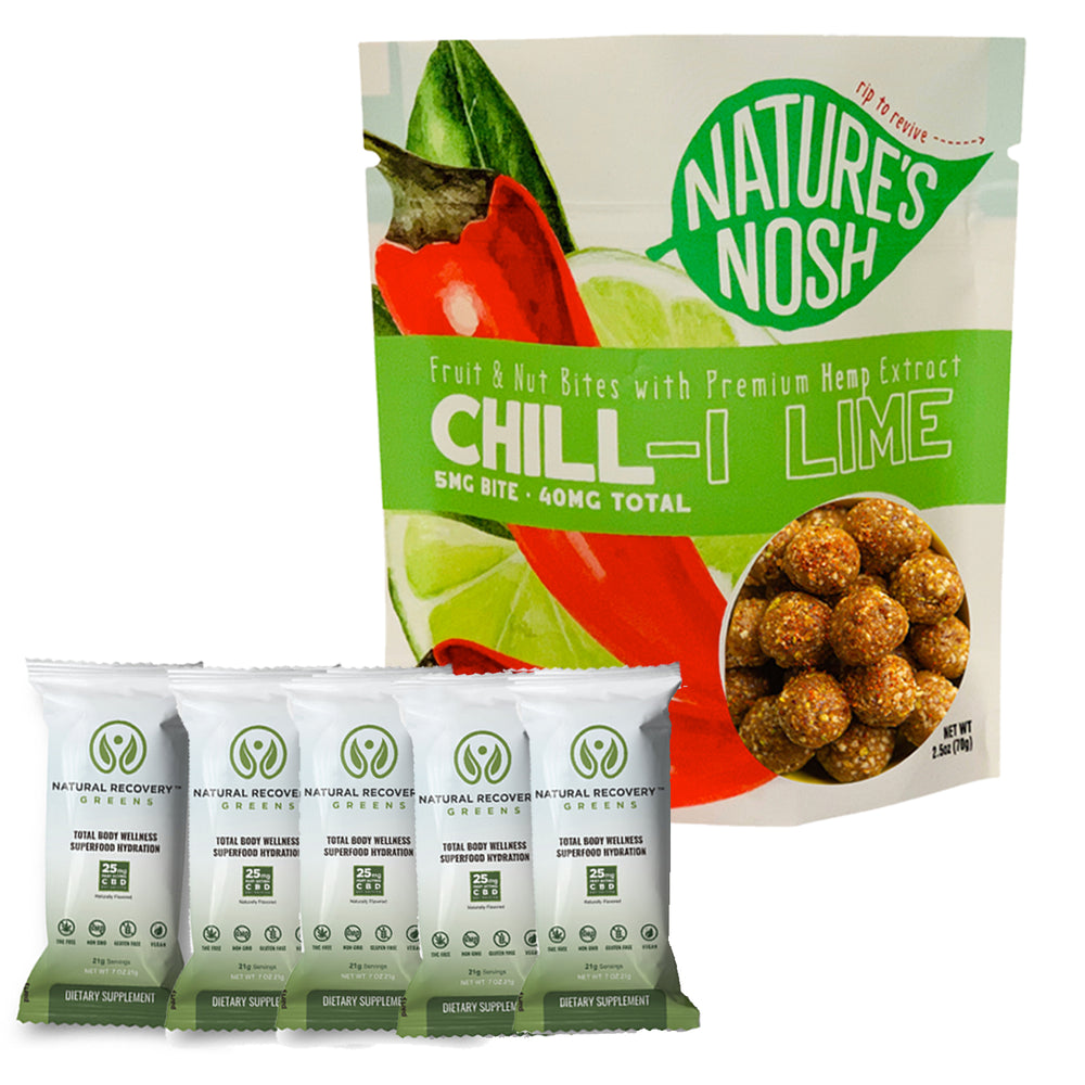 Natures Nosh Chill-i Lime & Natural Recovery Greens Bundle