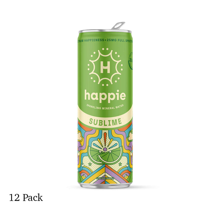 Happie Sublime 25mg Full Spectrum Hemp Sparkling Water 12 Pack