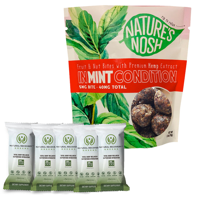 Natures Nosh In Mint Condition & Natural Recovery Greens Bundle