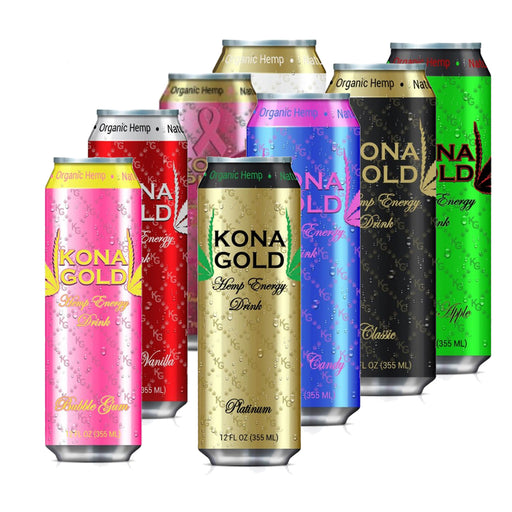 Kona Gold Hemp Energy Drinks 12 Pack