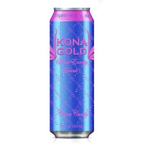 Kona Gold Hemp Energy Drink Cotton Candy