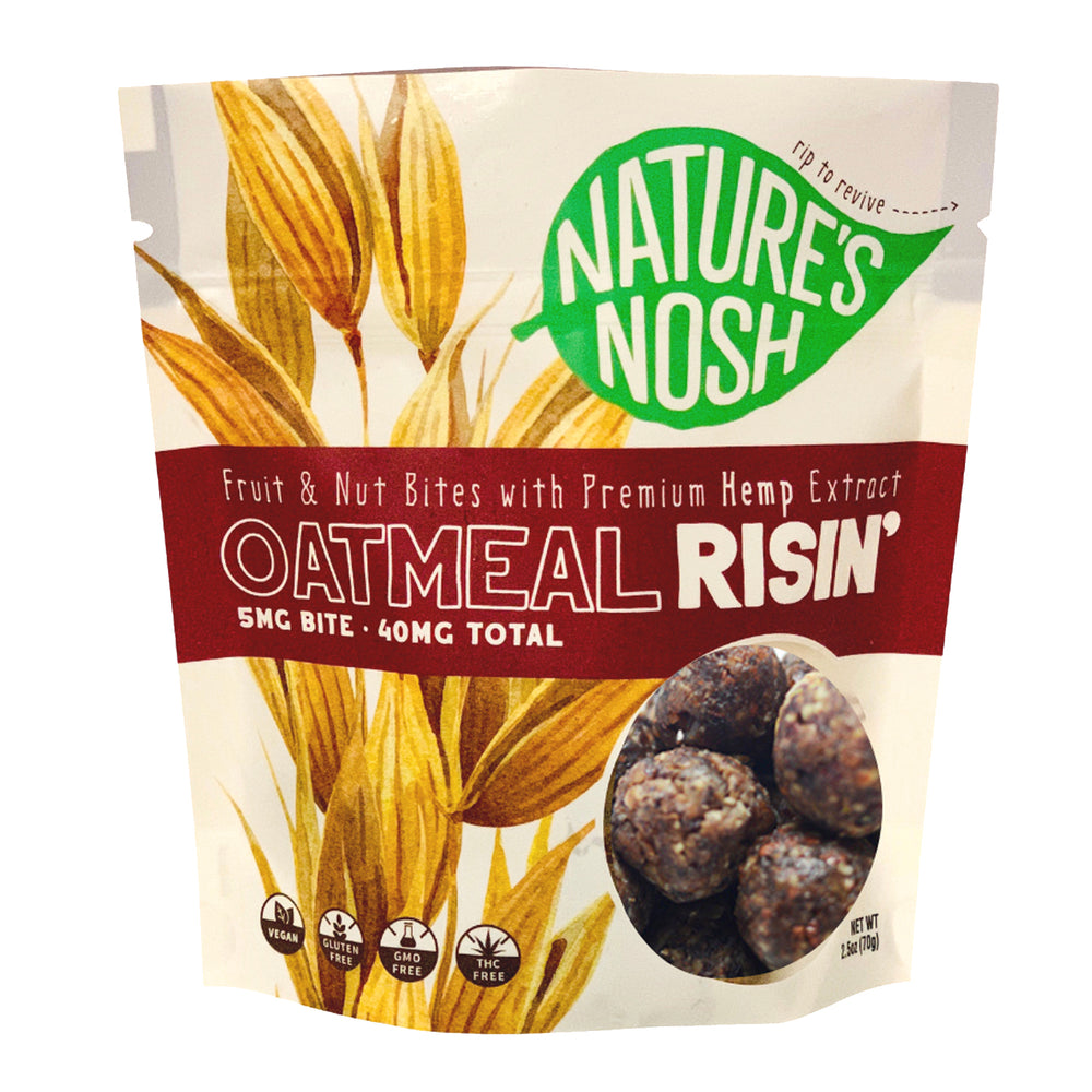 Nature's Nosh Hemp Oatmeal Risin Nut & Fruit Bites