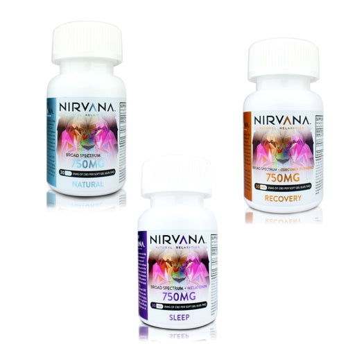 Nirvana CBD 750mg Gel Capsules
