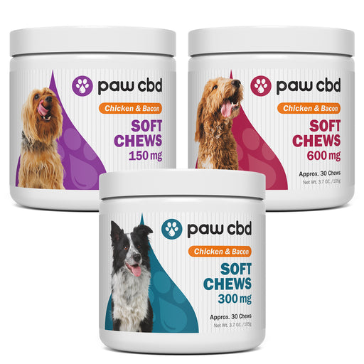 Paw CBD Chicken & Bacon Soft Chews For Dogs