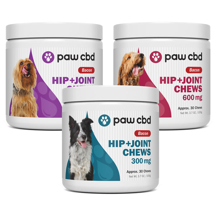 Paw CBD Hip & Joint Bacon Soft Chews for Dogs