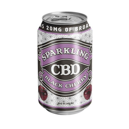 Sparkling CBD Beverages 20mg Broad Spectrum Black Cherry