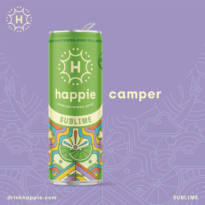 Happie Sublime 25mg Full Spectrum Hemp Sparkling Water