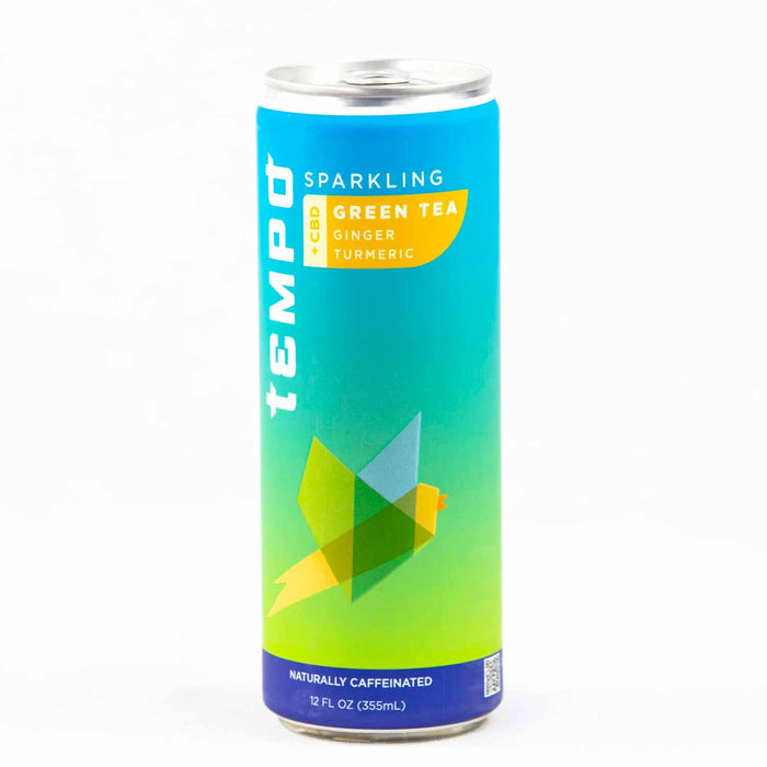 Tempo 25mg Sparkling Green Tea w/ Ginger & Turmeric