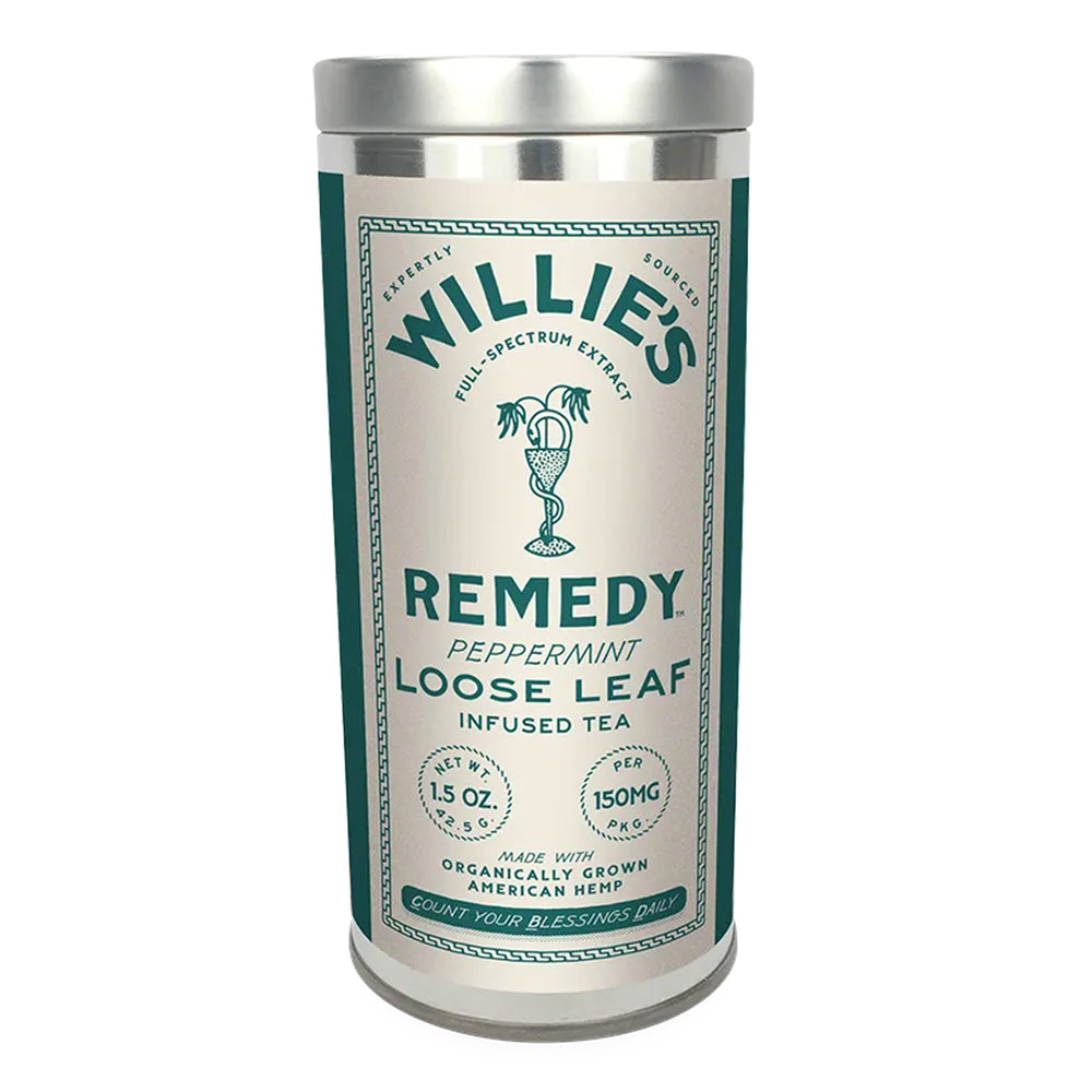 Willie's Remedy Loose Leaf 150mg CBD 1.5oz Peppermint Tea