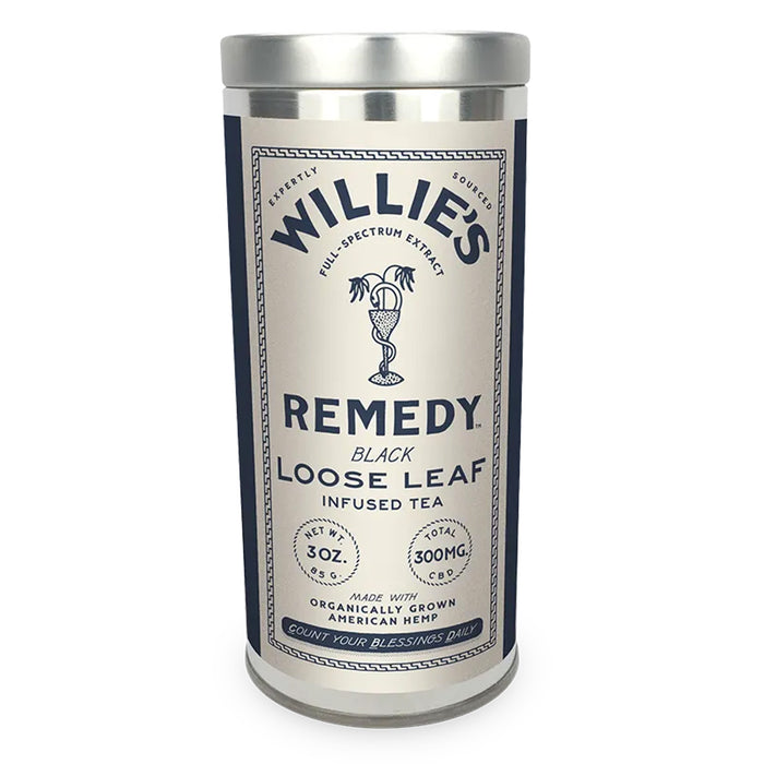 Willie's Remedy Loose Leaf 300mg CBD 3oz Black Tea