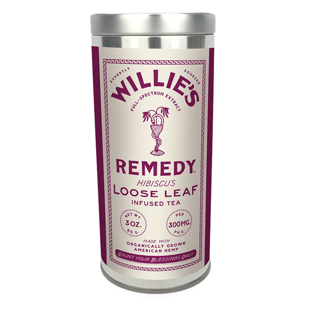 Willie's Remedy Loose Leaf 300mg CBD 3oz Hibiscus Tea