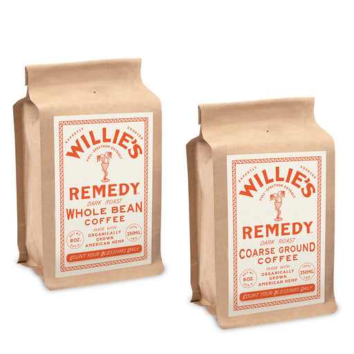 Willie's Remedy Dark Roast 8oz 250mg Coffee