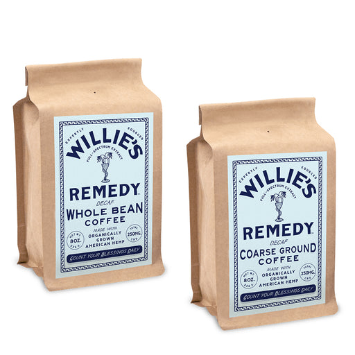 Willie's Remedy Decaf 8oz 250mg Coffee