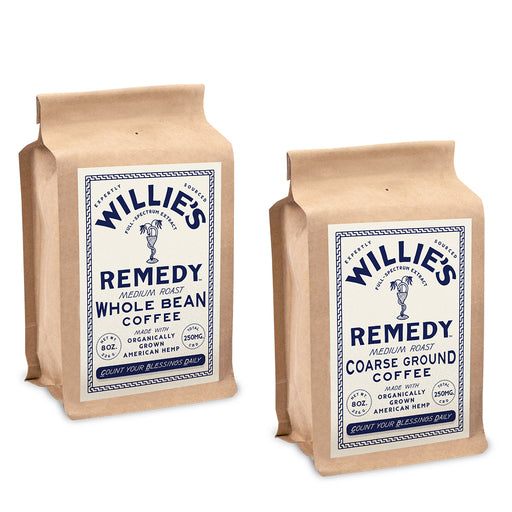 Willie's Remedy Medium Roast 8oz 250mg Coffee
