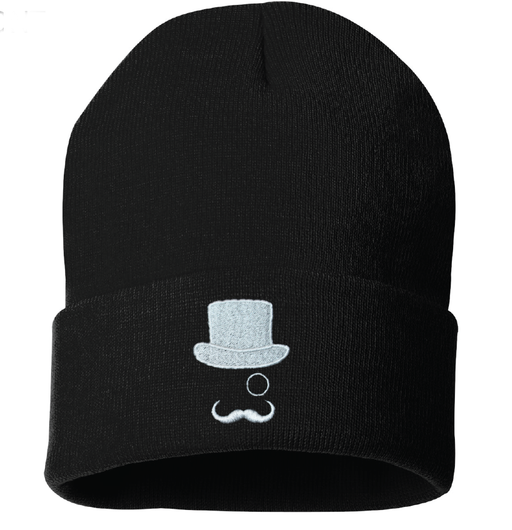 "MR. CBD 12"" Black Cuffed Sportsman Beanie"