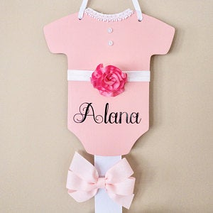 personalized monogram baby sign